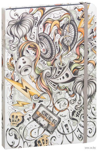 "Записная книжка в клетку ""Music"" (А5) — фото, картинка"