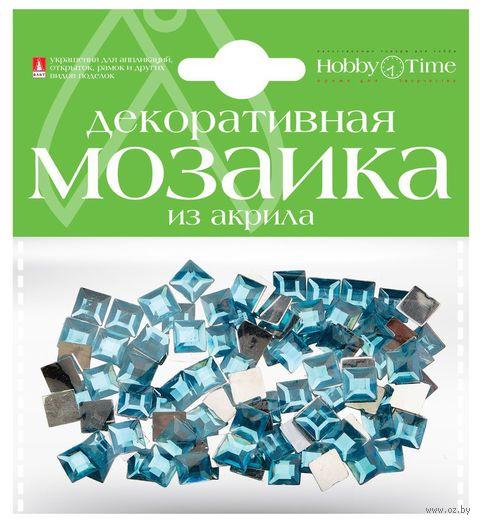 Мозаика декоративная из акрила №18 (8х8 мм; 100 шт.; голубой) — фото, картинка