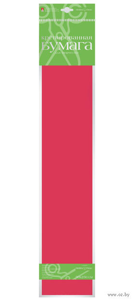 Бумага креповая (50х250 см; красная) — фото, картинка