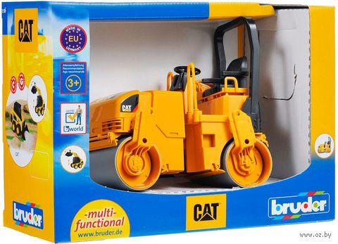"""Модель машины """"Каток двухвальцевый. CAT"""" (масштаб: 1/16) — фото, картинка"""