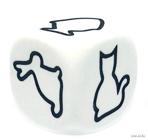 "Кубик D6 ""Животные"" (22 мм; белый) — фото, картинка"