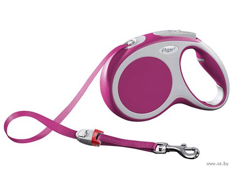 "Поводок-рулетка для собак ""Vario"" (розовый, размер S, до 15 кг/5 м, арт. 12066)"