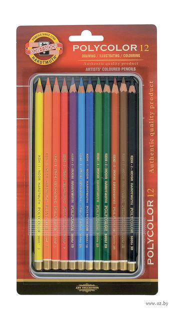 """Цветные карандаши """"Polycolor"""" (12 цветов; стандартная палитра)"""