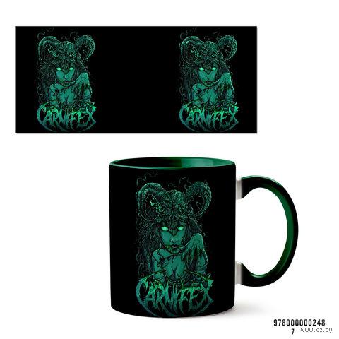 """Кружка """"Carnifex"""" (зеленая; арт. 248) — фото, картинка"""