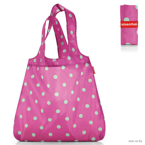 "Сумка складная ""Mini maxi shopper"" (dots pink)"