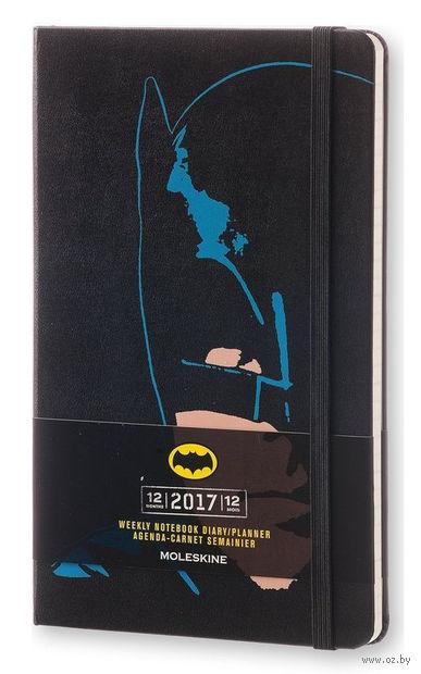"""Еженедельник Молескин """"Batman"""" на 2017 год (большой; твердая черная обложка)"""