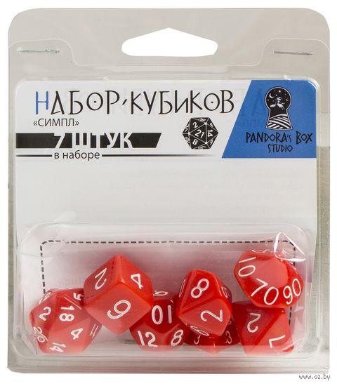 """Набор кубиков """"Симпл"""" (7 шт.; красный) — фото, картинка"""