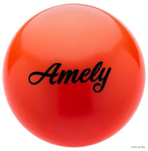 Мяч для художественной гимнастики AGB-101 (19 см; оранжевый) — фото, картинка