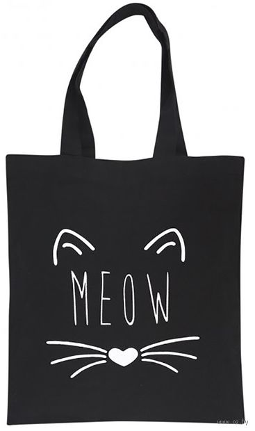 "Сумка-шоппер ""Meow"" (чёрная) — фото, картинка"