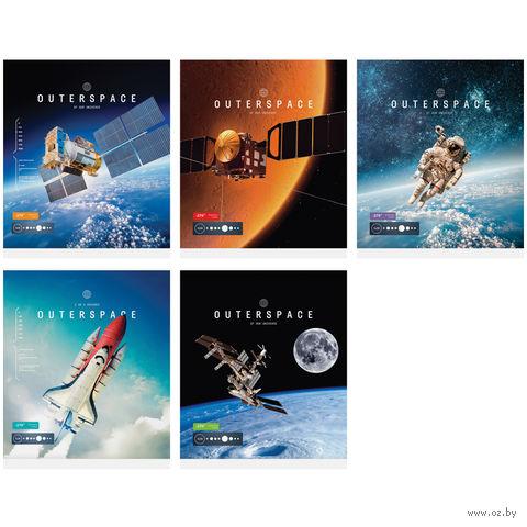 """Тетрадь в клетку 48 листов """"Космос. Outerspace"""""""