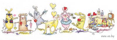"""Вышивка крестом """"Неделя влюбленного зайца"""" — фото, картинка"""