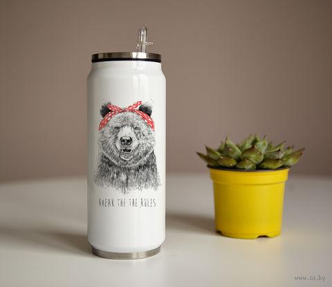 "Банка ""Медведь с банданой"" (350 мл) — фото, картинка"