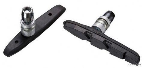 """Колодки тормозные для велосипеда """"MTB-956V-BK (чёрные; 72 мм) — фото, картинка"""