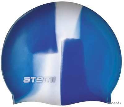 Шапочка для плавания (бело-синяя; арт. MC208) — фото, картинка