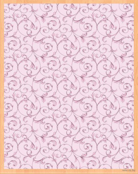 """Простыня хлопковая на резинке """"Завитки розовые"""" (200х180х25 см) — фото, картинка"""