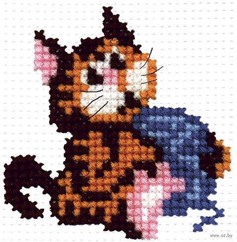 "Вышивка крестом ""Кошка с клубочком"""