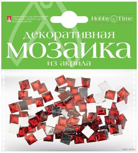 Мозаика декоративная из акрила №21 (8х8 мм; 100 шт.; красный) — фото, картинка