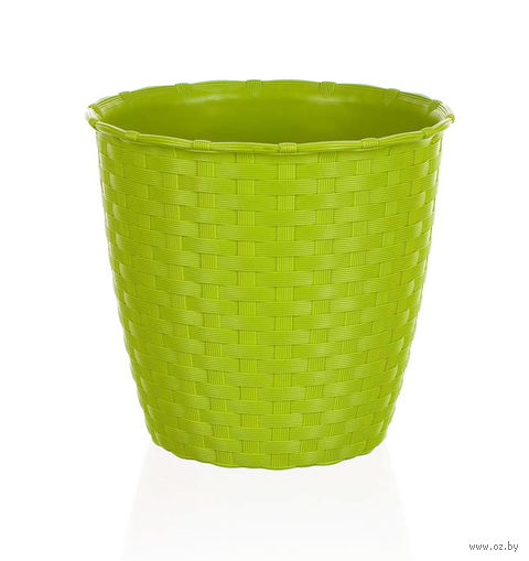 Цветочный горшок (14 см; зеленый) — фото, картинка
