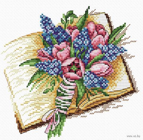 """Вышивка крестом """"Запах книжных страниц"""" (180х180 мм) — фото, картинка"""