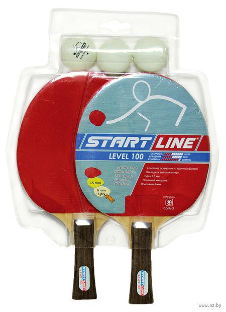 "Набор для настольного тенниса ""Level 100"" (2 ракетки+3 мяча; арт. 61200) — фото, картинка"