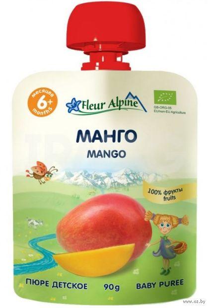 """Детское пюре Fleur Alpine Organic """"Манго"""" (90 г) — фото, картинка"""