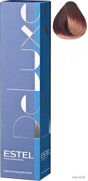 """Краска-уход для волос """"Estel. De Luxe. Для седых волос"""" тон: 5/60, светлый шатен фиолетовый — фото, картинка"""