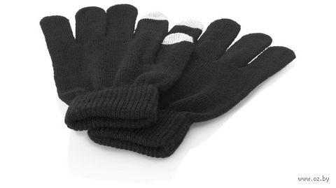 """Перчатки для сенсорного экрана """"Fabrice"""" (S/M, черные)"""