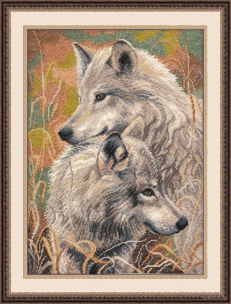 """Вышивка крестом """"Волчья верность"""" (300x400 мм) — фото, картинка"""