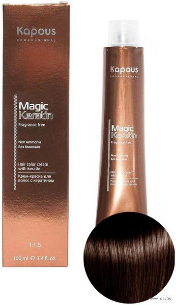"""Крем-краска для волос """"Non Ammonia"""" тон: 5.35, светлый коричневый каштановый золотистый — фото, картинка"""