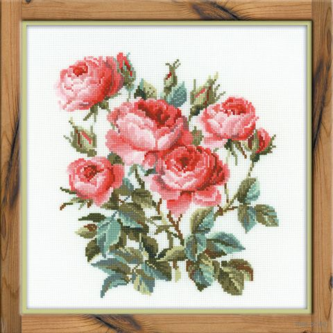 """Вышивка крестом """"Садовые розы"""" (400х400 мм; арт. 1046) — фото, картинка"""
