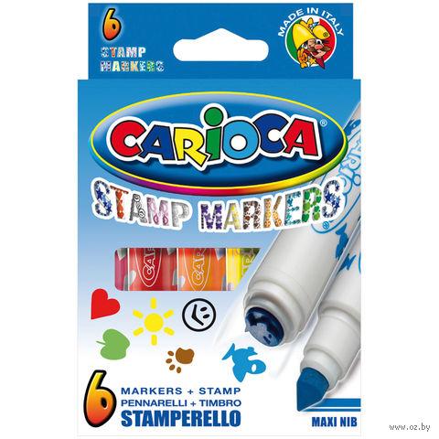 """Фломастеры """"Stamp Markers"""" (6 цветов; двухсторонние)"""