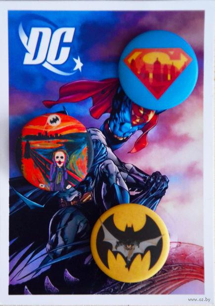 "Набор значков маленьких ""DC"" (арт. 475) — фото, картинка"