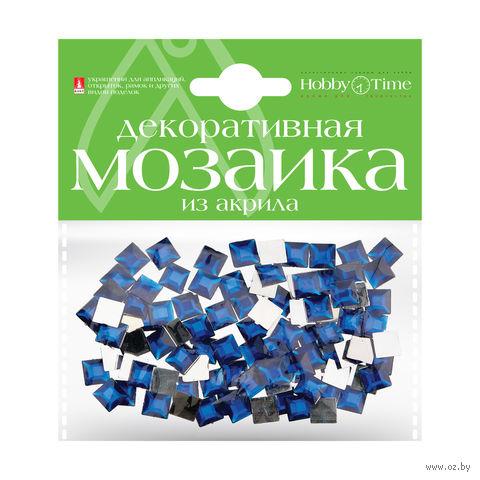 Мозаика декоративная из акрила №24 (8х8 мм; 100 шт.; синий) — фото, картинка