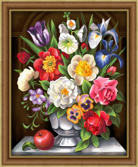 "Алмазная вышивка-мозаика ""Цветочная грация"" (400х500 мм) — фото, картинка"