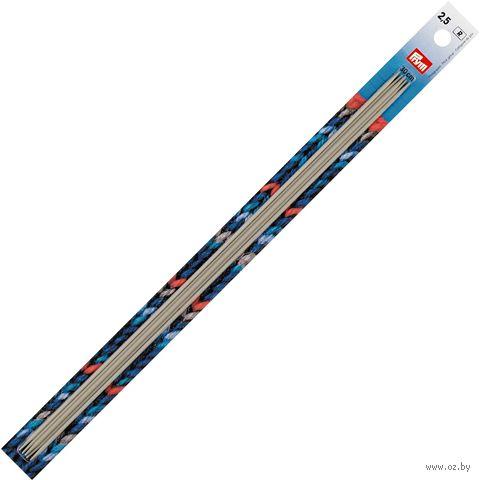 Спицы чулочные для вязания (алюминий; 2,5 мм; 30 см) — фото, картинка