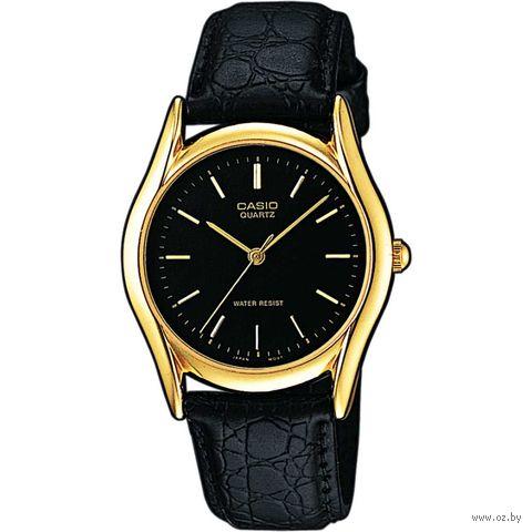 Часы наручные (чёрные; арт. MTP-1154PQ-1A) — фото, картинка