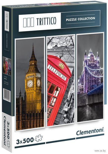 "Пазл-триптих ""Лондон"" (1500 элементов) — фото, картинка"