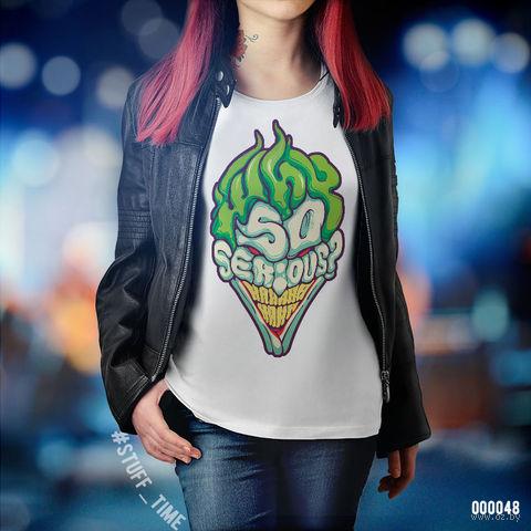 "Футболка женская ""Джокер"" (XS; арт. 048) — фото, картинка"