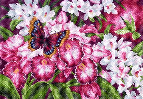 """Канва с нанесенным рисунком """"Орхидеи"""" (арт. 1138)"""