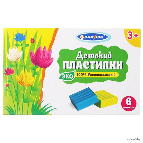 """Пластилин растительный детский """"Darvish"""" (6 цветов) — фото, картинка"""