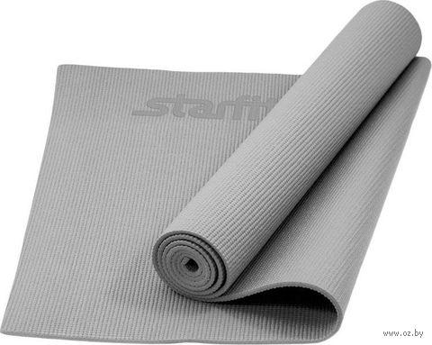 Коврик для йоги FM-101 (173x61x0,5 см; серый) — фото, картинка