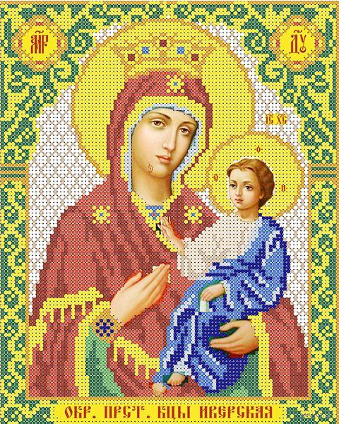 """Вышивка бисером """"Богородица Иверская"""" (250х200 мм) — фото, картинка"""