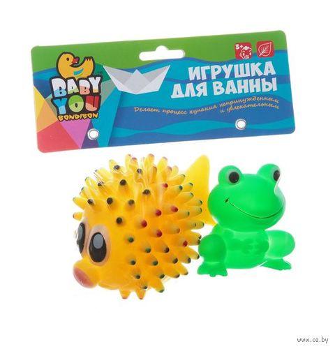"Набор игрушек для купания ""Морской ёж и лягушка"" (2 шт.) — фото, картинка"