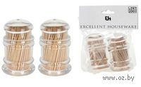 Набор зубочисток деревянных в пластмассовых стаканчиках (2 пр. по 200 шт)