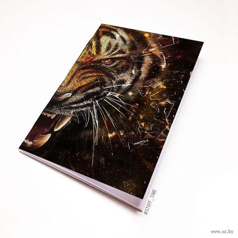 """Блокнот белый """"Тигр"""" А6 (356)"""