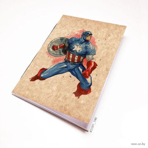 """Блокнот крафт """"Капитан Америка"""" (А5; арт. 221)"""