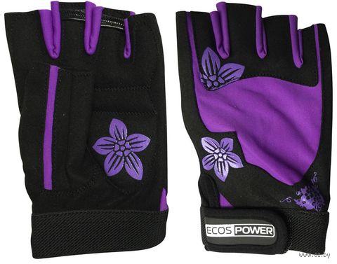 Перчатки для фитнеса 5106-VL (L; чёрно-фиолетовые) — фото, картинка