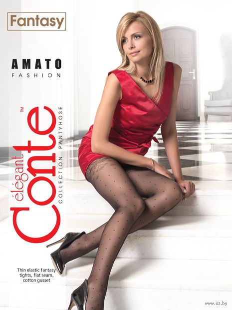 """Колготки женские фантазийные """"Conte. Amato"""""""