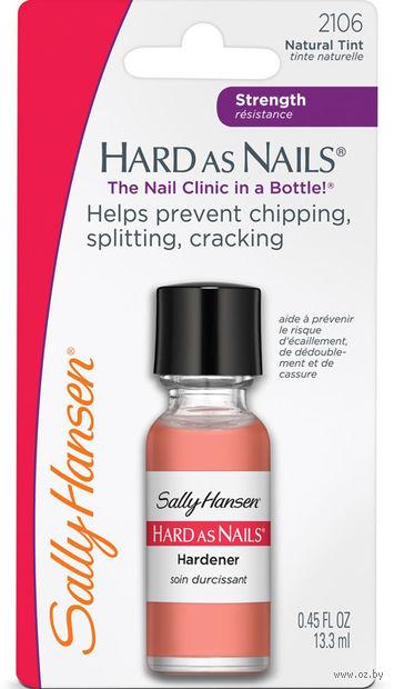 """Средство для укрепления ногтей """"Hard as nails helps strengthen nails"""" тон: натуральный беж — фото, картинка"""