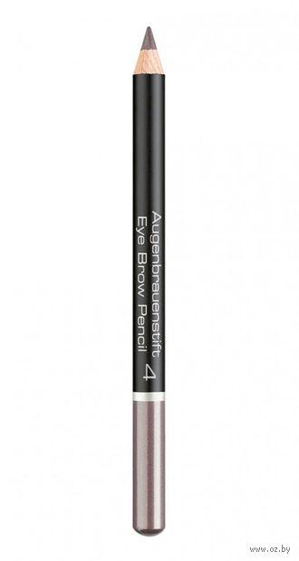 """Карандаш для бровей """"Eye Brow Pencil"""" (тон: 4, light grey brown) — фото, картинка"""